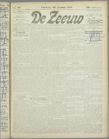 De Zeeuw. Christelijk-historisch nieuwsblad voor Zeeland 1918-01-26