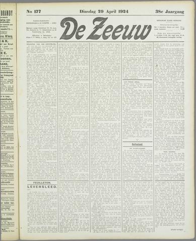 De Zeeuw. Christelijk-historisch nieuwsblad voor Zeeland 1924-04-29