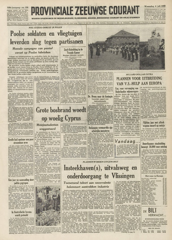 Provinciale Zeeuwse Courant 1956-07-04