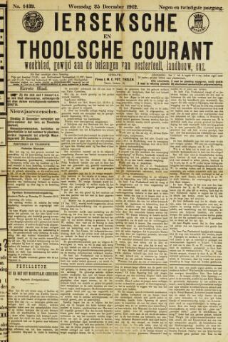 Ierseksche en Thoolsche Courant 1912-12-25