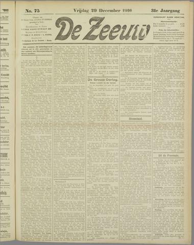 De Zeeuw. Christelijk-historisch nieuwsblad voor Zeeland 1916-12-29