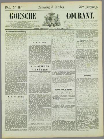 Goessche Courant 1891-10-03