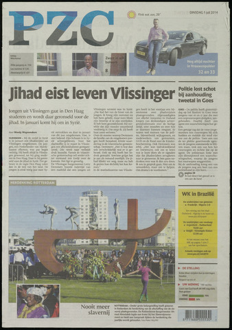 Provinciale Zeeuwse Courant 2014-07-01
