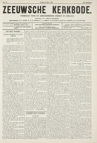 Zeeuwsche kerkbode, weekblad gewijd aan de belangen der gereformeerde kerken/ Zeeuwsch kerkblad 1934-06-08