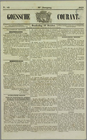 Goessche Courant 1859-10-27