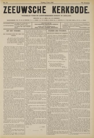 Zeeuwsche kerkbode, weekblad gewijd aan de belangen der gereformeerde kerken/ Zeeuwsch kerkblad 1940-06-07