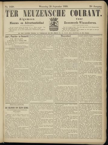 Ter Neuzensche Courant. Algemeen Nieuws- en Advertentieblad voor Zeeuwsch-Vlaanderen / Neuzensche Courant ... (idem) / (Algemeen) nieuws en advertentieblad voor Zeeuwsch-Vlaanderen 1888-09-26
