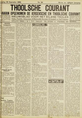 Ierseksche en Thoolsche Courant 1939-09-22