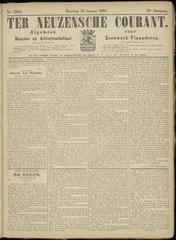 Ter Neuzensche Courant. Algemeen Nieuws- en Advertentieblad voor Zeeuwsch-Vlaanderen / Neuzensche Courant ... (idem) / (Algemeen) nieuws en advertentieblad voor Zeeuwsch-Vlaanderen 1888-01-28