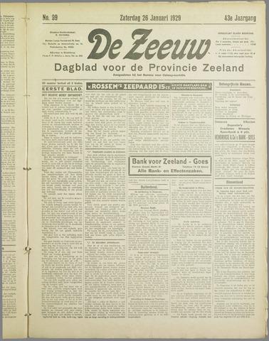De Zeeuw. Christelijk-historisch nieuwsblad voor Zeeland 1929-01-26