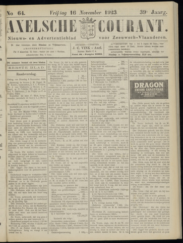 Axelsche Courant 1923-11-16