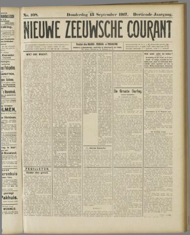 Nieuwe Zeeuwsche Courant 1917-09-13