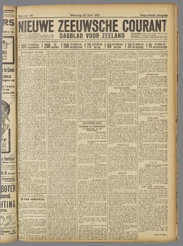 Nieuwe Zeeuwsche Courant 1923-04-23