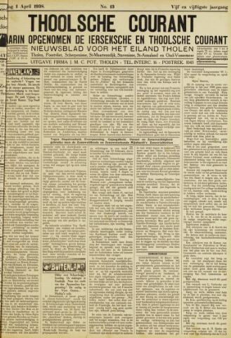 Ierseksche en Thoolsche Courant 1938-04-01