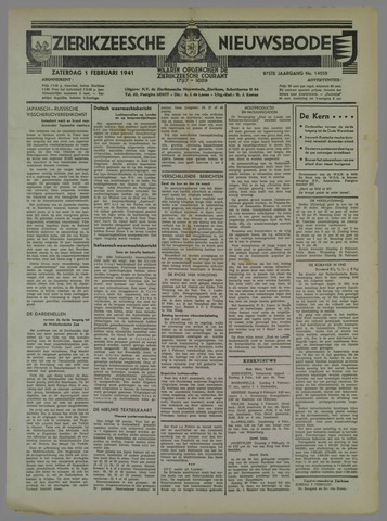 Zierikzeesche Nieuwsbode 1941-02-01