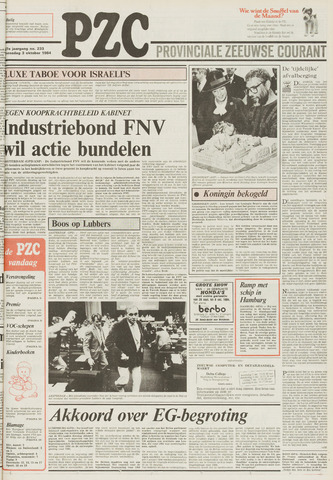 Provinciale Zeeuwse Courant 1984-10-03