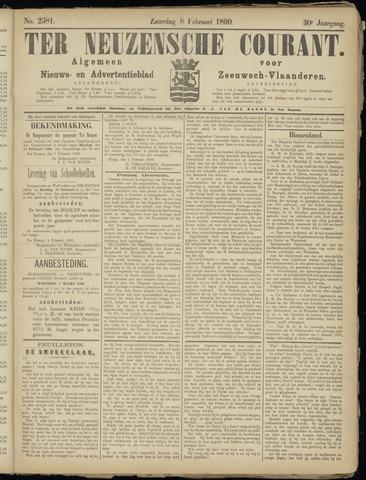 Ter Neuzensche Courant. Algemeen Nieuws- en Advertentieblad voor Zeeuwsch-Vlaanderen / Neuzensche Courant ... (idem) / (Algemeen) nieuws en advertentieblad voor Zeeuwsch-Vlaanderen 1890-02-08