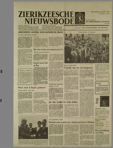 Zierikzeesche Nieuwsbode 1963-09-26