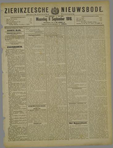 Zierikzeesche Nieuwsbode 1916-09-11