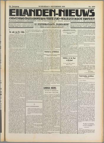 Eilanden-nieuws. Christelijk streekblad op gereformeerde grondslag 1939-11-08