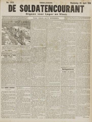 De Soldatencourant. Orgaan voor Leger en Vloot 1916-04-26