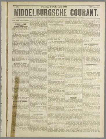 Middelburgsche Courant 1925-02-03