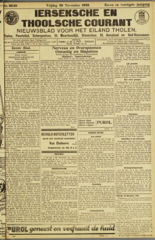 Ierseksche en Thoolsche Courant 1929-11-29