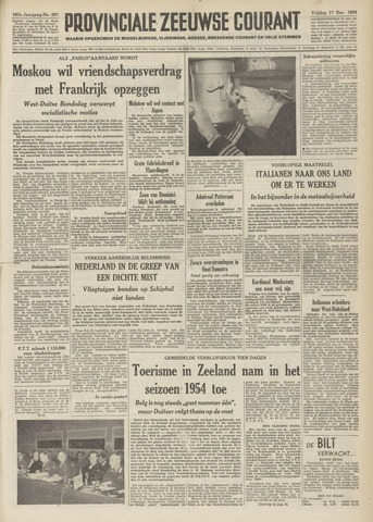 Provinciale Zeeuwse Courant 1954-12-17