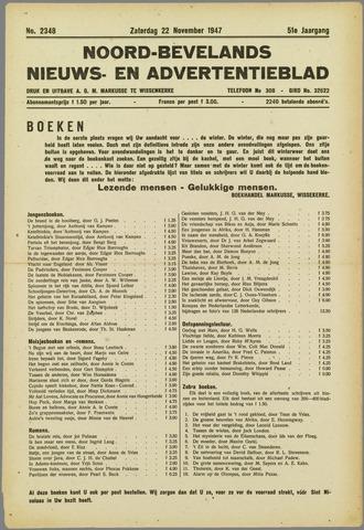 Noord-Bevelands Nieuws- en advertentieblad 1947-11-22
