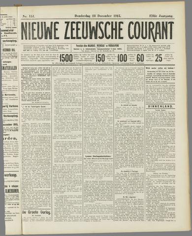 Nieuwe Zeeuwsche Courant 1915-12-23