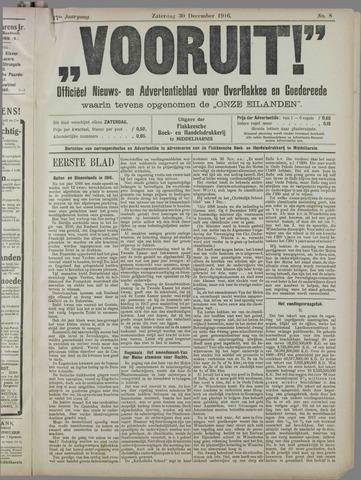 """""""Vooruit!""""Officieel Nieuws- en Advertentieblad voor Overflakkee en Goedereede 1916-12-30"""