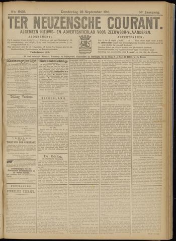 Ter Neuzensche Courant. Algemeen Nieuws- en Advertentieblad voor Zeeuwsch-Vlaanderen / Neuzensche Courant ... (idem) / (Algemeen) nieuws en advertentieblad voor Zeeuwsch-Vlaanderen 1916-09-28