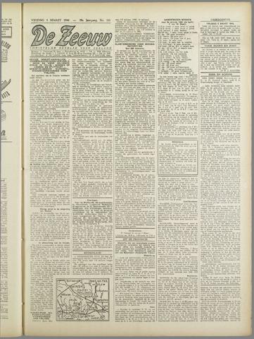 De Zeeuw. Christelijk-historisch nieuwsblad voor Zeeland 1944-03-03
