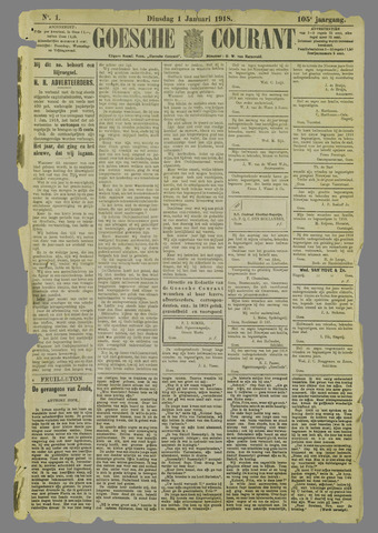 Goessche Courant 1918