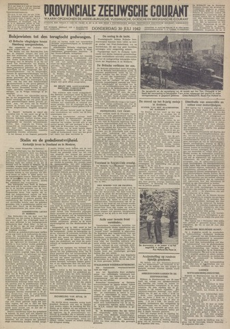 Provinciale Zeeuwse Courant 1942-07-30