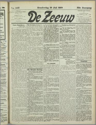 De Zeeuw. Christelijk-historisch nieuwsblad voor Zeeland 1918-07-18