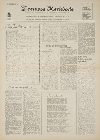 Zeeuwsche kerkbode, weekblad gewijd aan de belangen der gereformeerde kerken/ Zeeuwsch kerkblad 1970-11-12