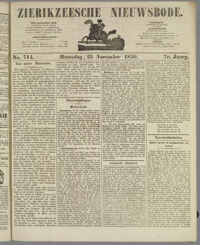Zierikzeesche Nieuwsbode 1850-11-25