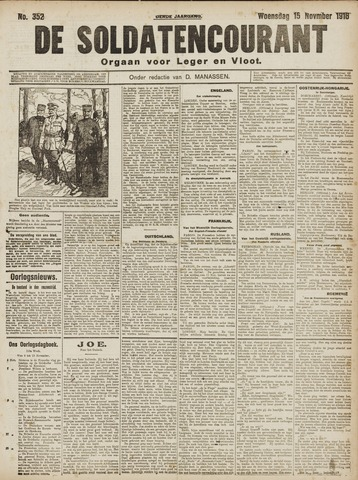 De Soldatencourant. Orgaan voor Leger en Vloot 1916-11-15