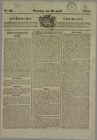 Goessche Courant 1844-04-29