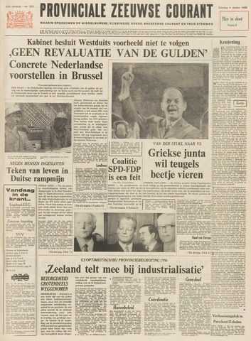 Provinciale Zeeuwse Courant 1969-10-04