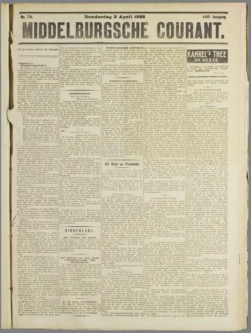Middelburgsche Courant 1925-04-02
