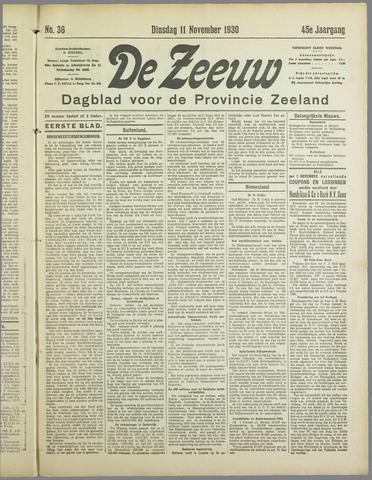 De Zeeuw. Christelijk-historisch nieuwsblad voor Zeeland 1930-11-11