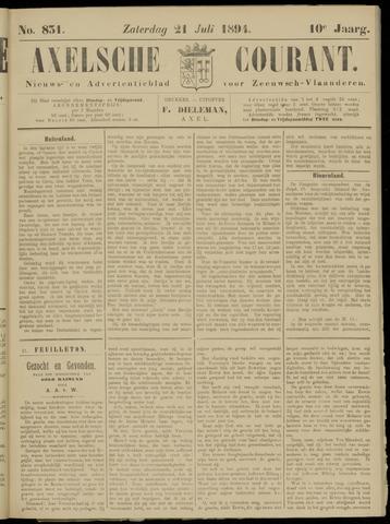 Axelsche Courant 1894-07-21