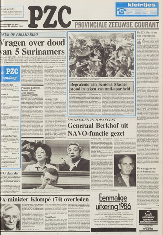 Provinciale Zeeuwse Courant 1986-10-29