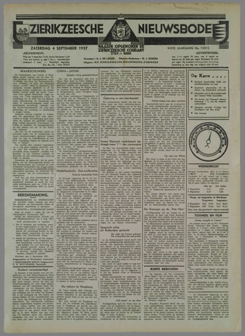 Zierikzeesche Nieuwsbode 1937-09-04