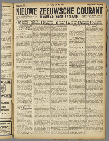 Nieuwe Zeeuwsche Courant 1923-05-23
