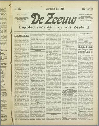De Zeeuw. Christelijk-historisch nieuwsblad voor Zeeland 1929-05-14
