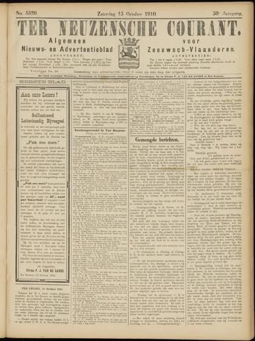 Ter Neuzensche Courant. Algemeen Nieuws- en Advertentieblad voor Zeeuwsch-Vlaanderen / Neuzensche Courant ... (idem) / (Algemeen) nieuws en advertentieblad voor Zeeuwsch-Vlaanderen 1910-10-15