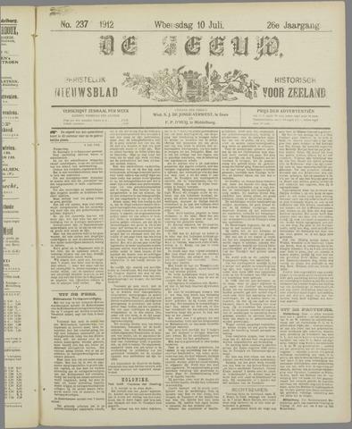 De Zeeuw. Christelijk-historisch nieuwsblad voor Zeeland 1912-07-10